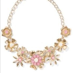 Jewelry - gold  and pink flower statement necklace NWT